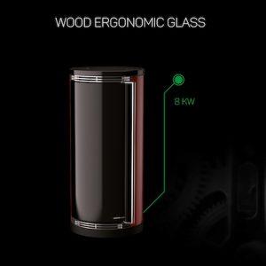 WOOD ERGONOMIC GLASS 8KW